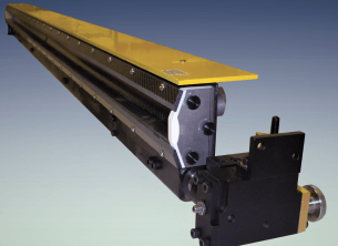 chambered doctor blade system for corrugated printing application