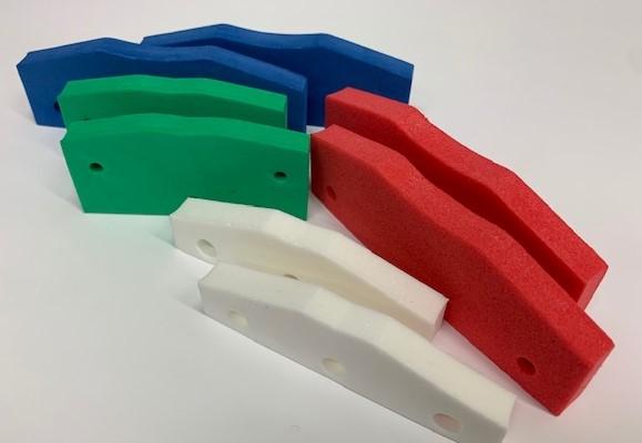 red, blue, green foam End Seals